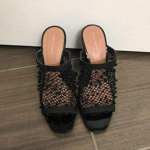Zara Summer Mules with Pearls Sz 6.5